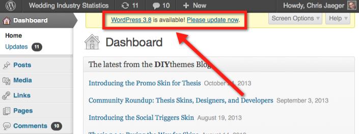 wordpress-upgrade-dashboard-notice